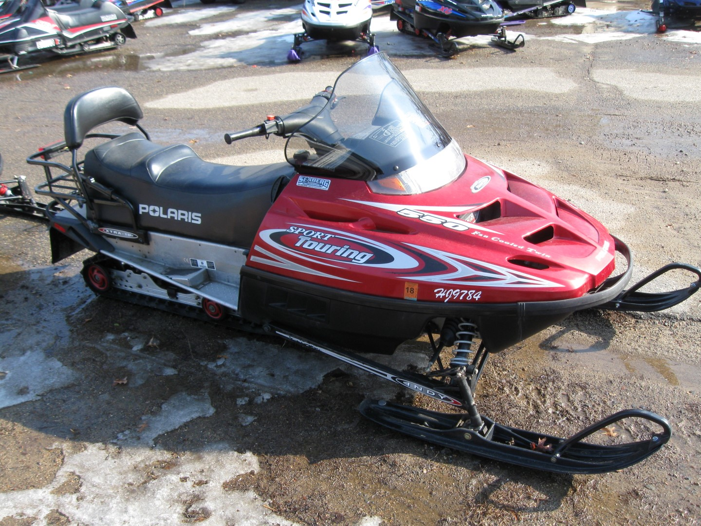 2002 Polaris Sport Touring 550 Snowmobile for sale Seaberg Motorsports Crosslake MN right quarter