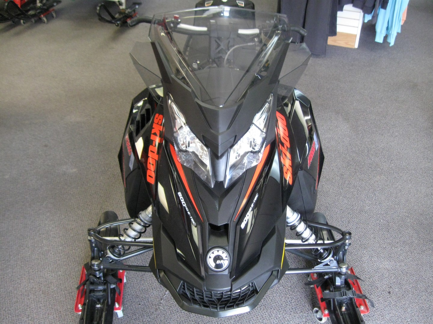 2015 Ski-Doo MXZ Renegade 600 E-Tec Snowmobile for sale eagan mn Seaberg Motorsports Crosslake MN Front black and orange