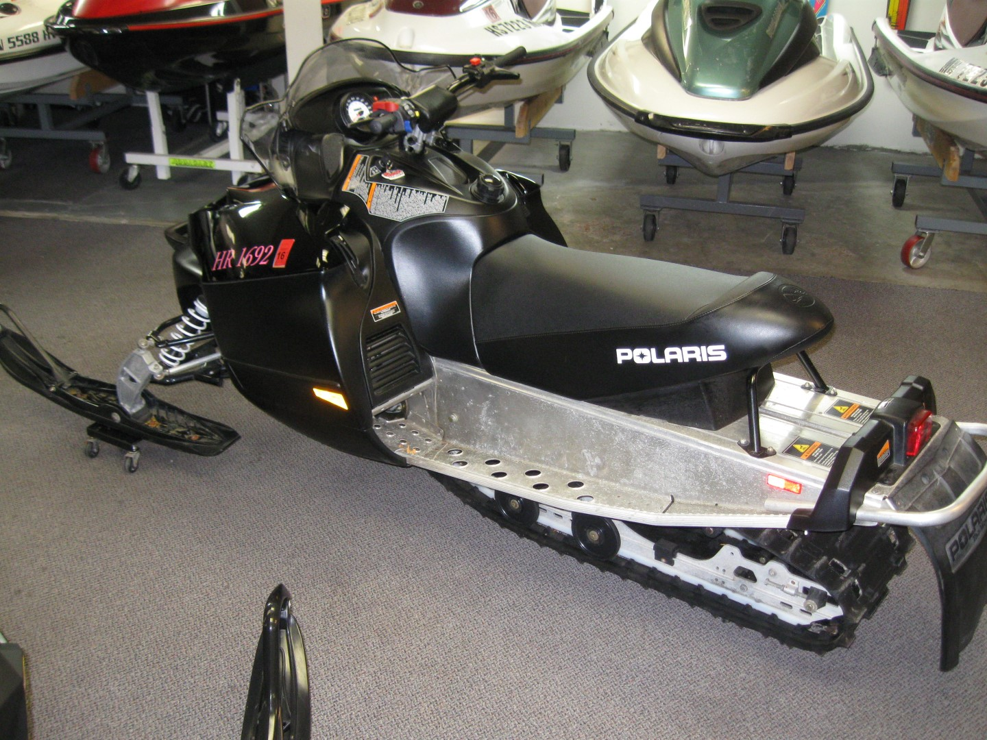 2008 Polaris IQ Shift 600 for sale black minnetonka mn seaberg motorsports crosslake mn rear quarter view black