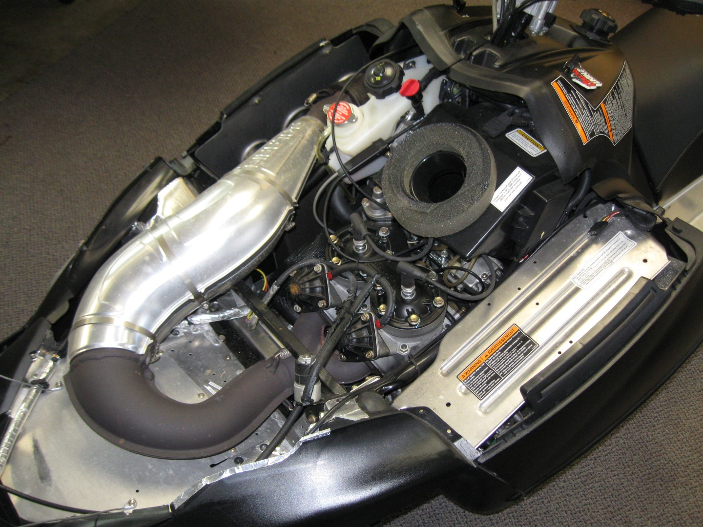 2011 Ski-Doo Renegade 800 XP snowmobile for sale Maple grove MN Seaberg motorsports engine compartment view