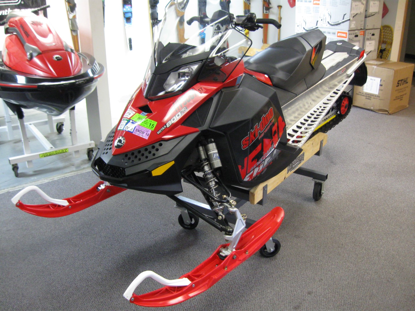 2011 Ski-Doo Renegade 800 XP snowmobile for sale Maple grove MN Seaberg motorsports front right quarter view
