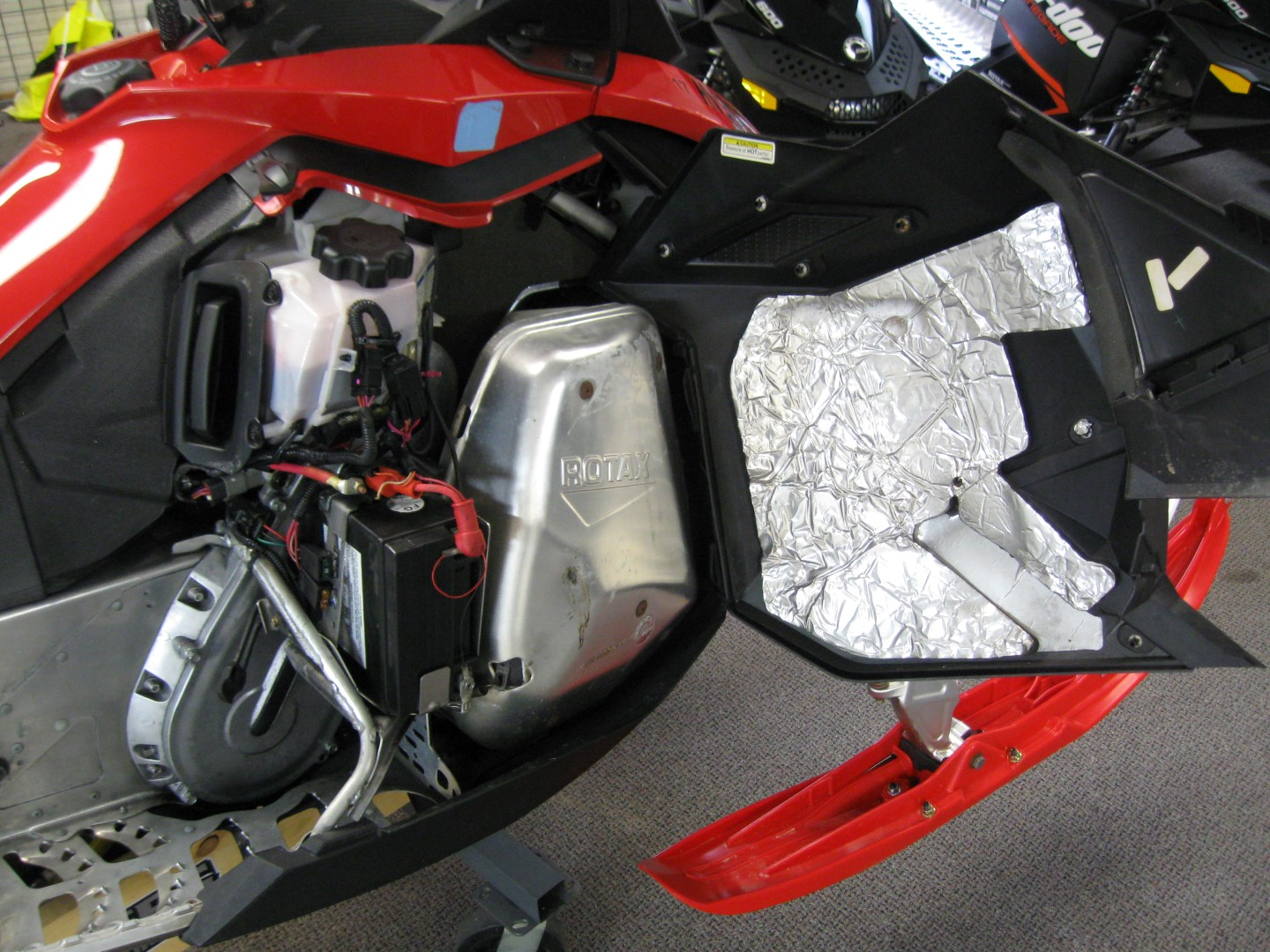 Snowmobile 2011 Ski-Doo Renegade 800 XP for sale engine compartment view Maple Grove MN Seaberg motorsports