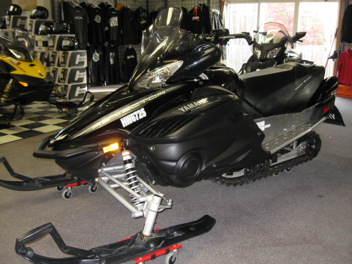 2012 Yamaha RS Vector Snowmobile right quarter view for sale black minneapolis mn