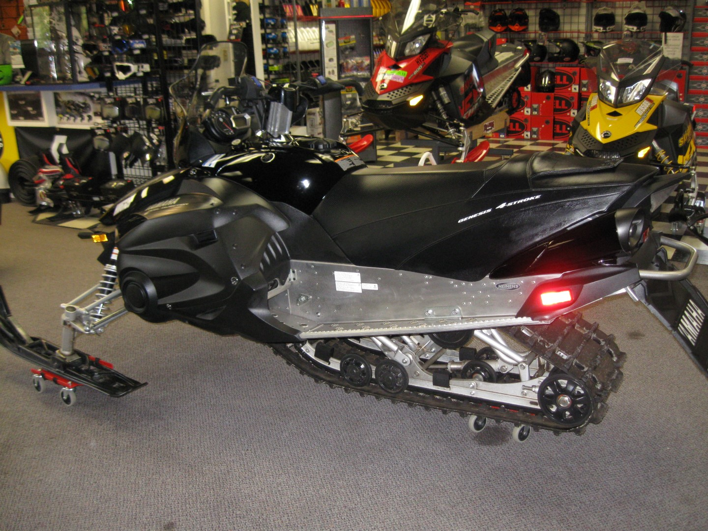 2012 Yamaha RS Vector Snowmobile left side view black for sale minneapolis MN