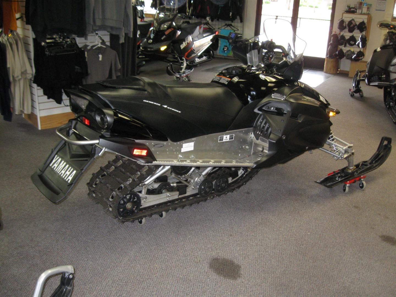 2012 Yamaha RS Vector Snowmobile rear quarter view, black for sale Minneapolis MN