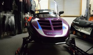 1997 Polaris Indy Classic Touring 2-up 500 Liquid Cooled Seaberg Motorsports Crosslake MN Front View Purple