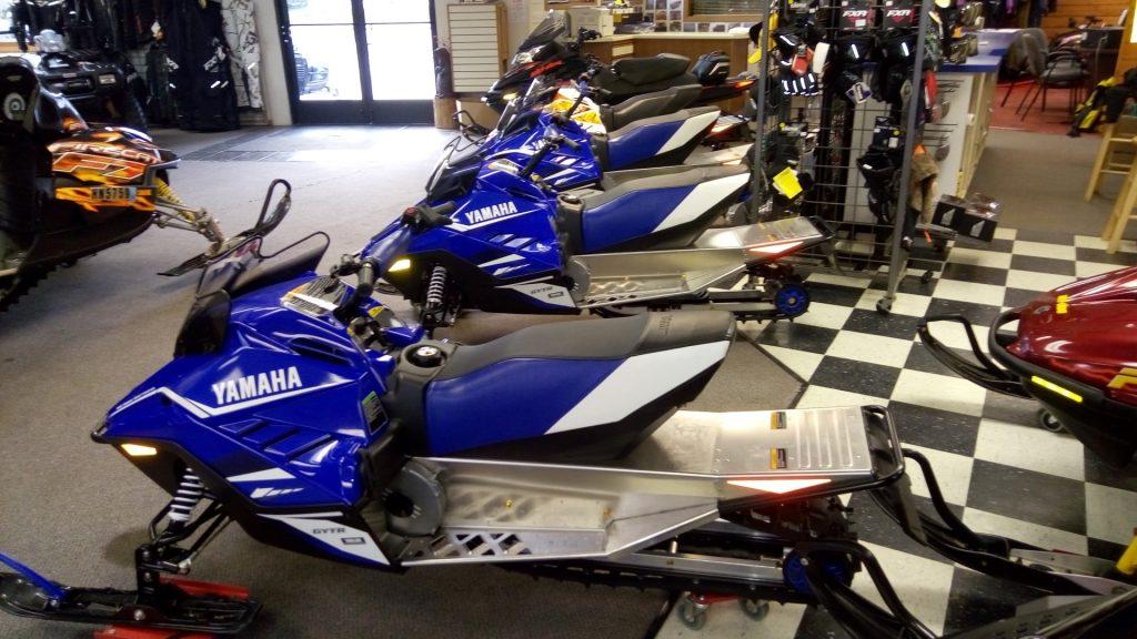 2018 yamaha Snoscoot Seaberg Motorsports Crosslake MN lineup blue